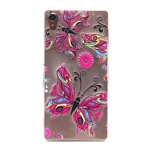 Gelový obal na mobil Sony Xperia Z3 - barevný motýlci - 1