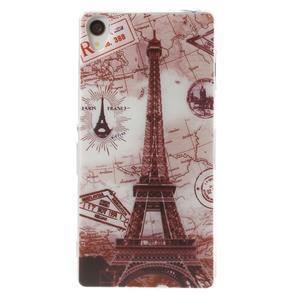 Ultratenký gélový obal pre mobil Sony Xperia Z3 - Eiffelova veža - 1