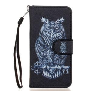 Leat peňaženkové puzdro pre Samsung Galaxy A3 (2016) - tribal sova - 1