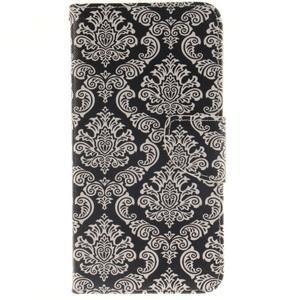 Patt peňaženkové puzdro pre Samsung Galaxy A3 (2016) - kvetinová tapeta - 1