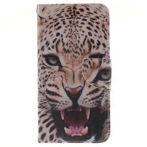 Patt peňaženkové puzdro pre Samsung Galaxy A3 (2016) - leopard se zoubky - 1