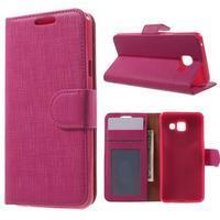 Cloth peňaženkové puzdro pre mobil Samsung Galaxy A3 (2016) - rose - 1/7