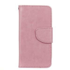 Hoor PU kožené puzdro pre mobil Samsung Galaxy A3 (2016) - ružové - 1