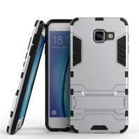 Outdoor odolný kryt pre mobil Samsung Galaxy A3 (2016) - strieborny - 1/2