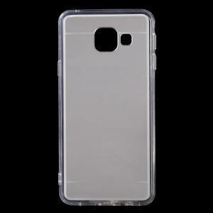Zrcadlový gelový kryt na Samsung Galaxy A3 (2016) - stříbrný - 1