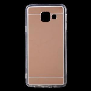 Zrcadlový gelový kryt na Samsung Galaxy A3 (2016) - rose gold - 1
