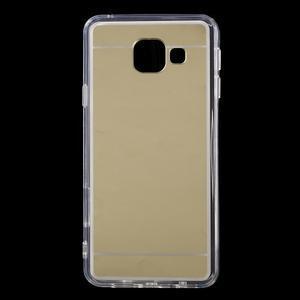 Zrcadlový gélový kryt pre Samsung Galaxy A3 (2016) - zlatý - 1