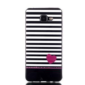 Style gélový obal pre mobil Samsung Galaxy A3 (2016) - srdiečko - 1