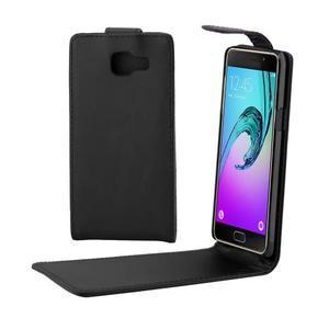 Flipové pouzdro na mobil Samsung Galaxy A3 (2016) - černé - 1
