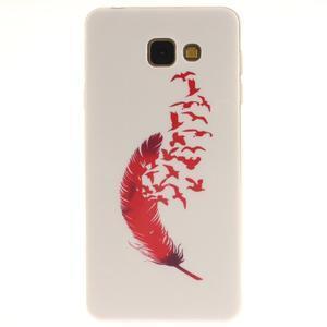 Silk gelový kryt na mobil Samsung Galaxy A3 (2016) - červené peříčko - 1
