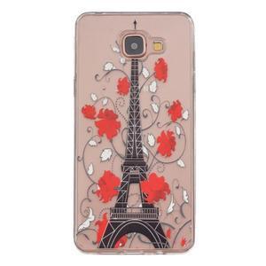 Slim průhledný gelový obal na Samsung Galax A3 (2016) - Eiffelova věž - 1