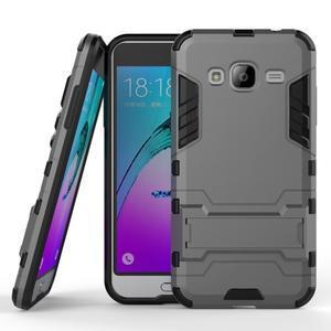 Outdoor odolný obal na Samsung Galaxy J3 - šedé - 1