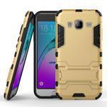 Outdoor odolný obal na Samsung Galaxy J3 - zlaté - 1/2