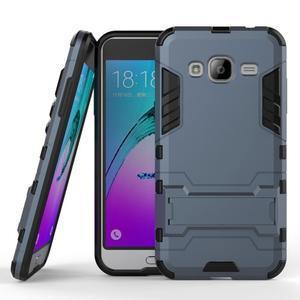 Outdoor odolný obal pre Samsung Galaxy J3  (2016) - tmavomodré - 1
