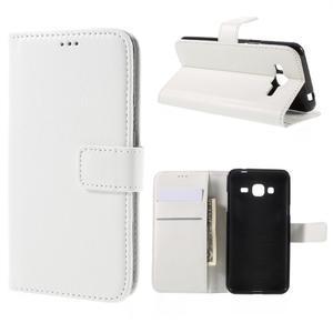 Peňaženkové puzdro pre mobil Samsung Galaxy J3  (2016) - biele - 1