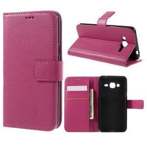 Peňaženkové puzdro pre mobil Samsung Galaxy J3  (2016) - rose - 1