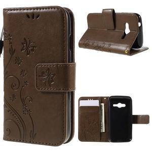 Butterfly puzdro pre mobil Samsung Galaxy Trend 2 Lite - coffee - 1