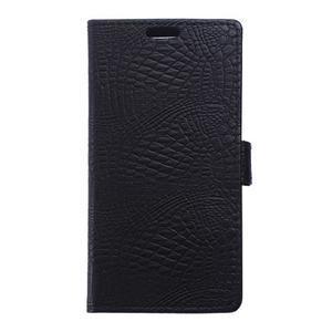 Croco peněženkové pouzdro na Samsung Galaxy Trend 2 Lite - černé - 1