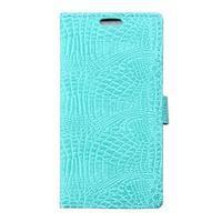 Croco peňaženkové puzdro pre Samsung Galaxy Trend 2 Lite - cyan - 1/7