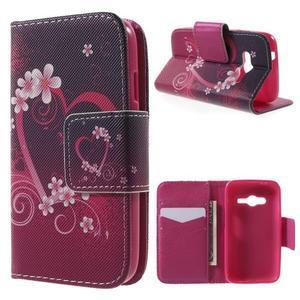 Peňaženkové puzdro pre Samsung Galaxy Trend 2 Lite - srdca - 1
