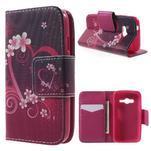 Peňaženkové puzdro pre Samsung Galaxy Trend 2 Lite - srdca - 1/7