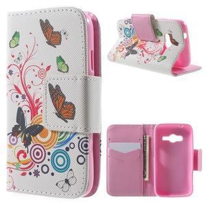 Peňaženkové puzdro pre Samsung Galaxy Trend 2 Lite - motýle - 1