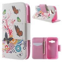 Peňaženkové puzdro pre Samsung Galaxy Trend 2 Lite - motýle - 1/7