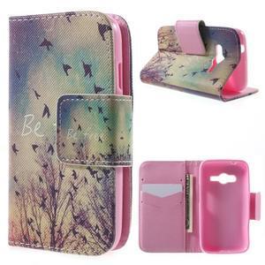 Peňaženkové puzdro pre Samsung Galaxy Trend 2 Lite - vtáčiky - 1