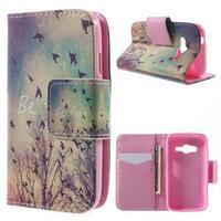 Peňaženkové puzdro pre Samsung Galaxy Trend 2 Lite - vtáčiky - 1/7