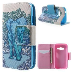 Peňaženkové puzdro pre Samsung Galaxy Trend 2 Lite - modrý slon - 1