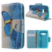 Motive puzdro pre mobil Samsung Galaxy Trend 2 Lite - modrý motýl - 1/7