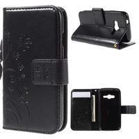 Butterfly pouzdro na mobil Samsung Galaxy Trend 2 Lite - černé - 1/7