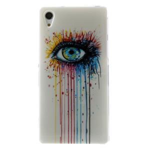 Emotive gélový obal pre Sony Xperia Z2 - farebné oko - 1