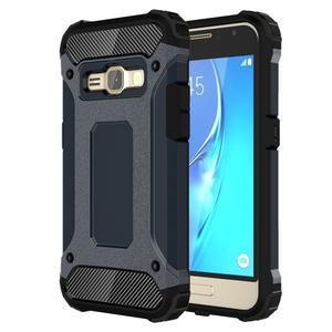 Armory odolný obal pre mobil Samsung Galaxy J1 (2016) - tmavomodrý - 1