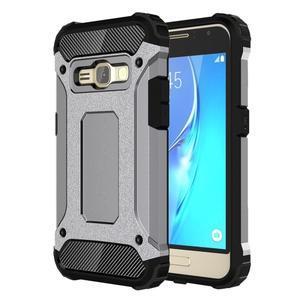 Armory odolný obal pre mobil Samsung Galaxy J1 (2016) - šedý - 1