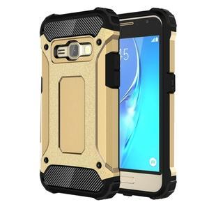 Armory odolný obal pre mobil Samsung Galaxy J1 (2016) - zlatý - 1