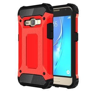 Armory odolný obal pre mobil Samsung Galaxy J1 (2016) - červený - 1