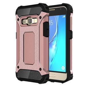 Armory odolný obal pre mobil Samsung Galaxy J1 (2016) - ružovozlatý - 1