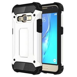Armory odolný obal pre mobil Samsung Galaxy J1 (2016) - biely - 1