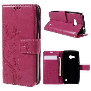Butterfly koženkové puzdro na Microsoft Lumia 550 - rose - 1