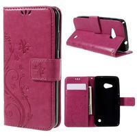 Butterfly koženkové puzdro na Microsoft Lumia 550 - rose - 1/7