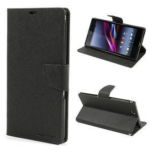 Diary PU kožené pouzdro na Sony Z Ultra - černé - 1