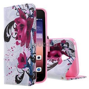 Štýlové puzdro na mobil Huawei Ascend Y550 - kvety - 1