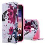 Štýlové puzdro na mobil Huawei Ascend Y550 - kvety - 1/5