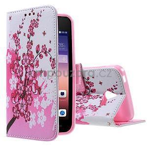 Stylové puzdro na mobil Huawei Ascend Y550 - kvetoucí větvička - 1
