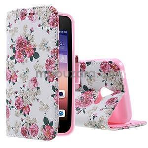 Štýlové puzdro na mobil Huawei Ascend Y550 - kvetinová koláž - 1