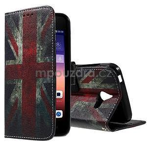 Štýlové puzdro na mobil Huawei Ascend Y550 - UK vlajka - 1