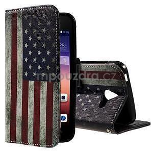 Štýlové puzdro na mobil Huawei Ascend Y550 - US vlajka - 1