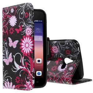 Štýlové puzdro na mobil Huawei Ascend Y550 - kúzelné motýle - 1