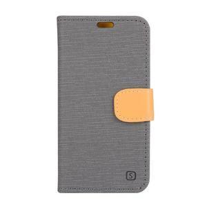 Knížkové puzdro pre mobil Lenovo Vibe Shot - šedé - 1